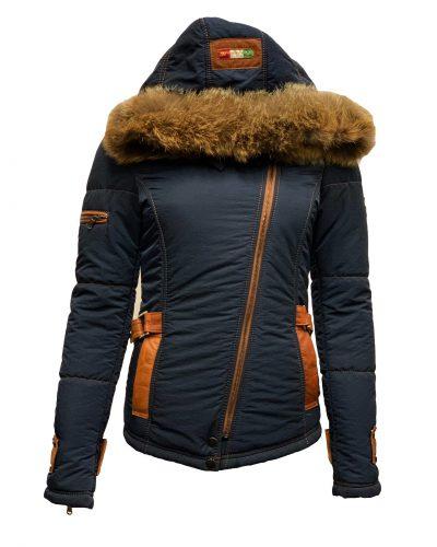 Dames winter jas met bontkraag- Italia bestellen