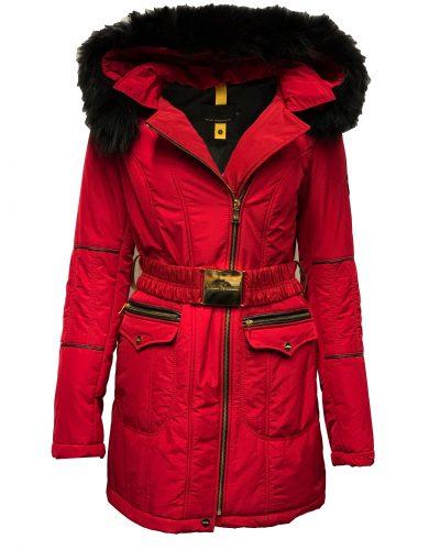 Dames winter jas met bontkraag en capuchon-rastaan bestellen