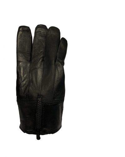 Heren leren handschoenen zwart-rits bestellen