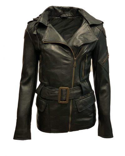 Leren jas dames zwart -ratana bestellen