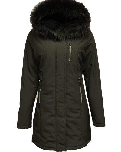 Softshell jas dames zwart met bontkraag-Riza bestellen