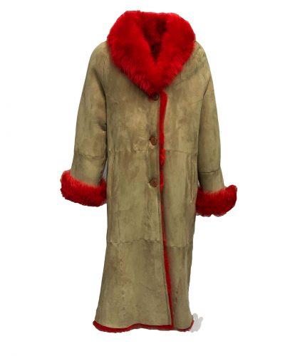 Lange  Lammy coat dames – Lamshuid 100%, Lamsleer 100% bestellen
