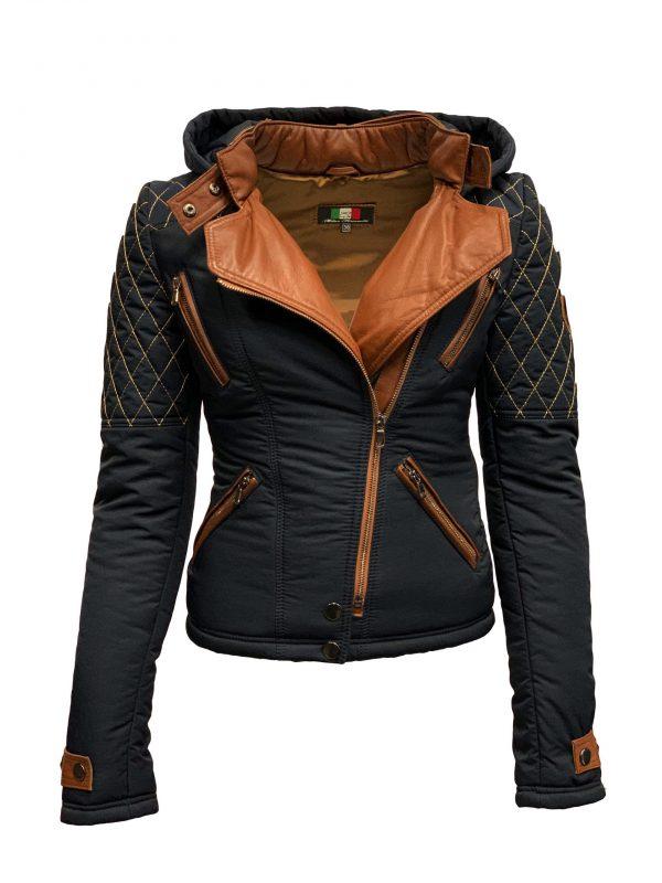 Dames winter jas met boorkraag blauw- Looise bestellen