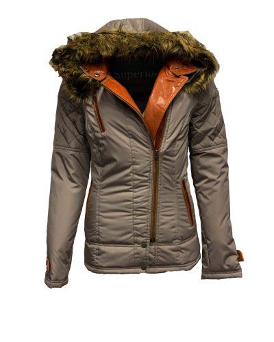 Dames winter jas met bontkraag en capuchon-miko bestellen