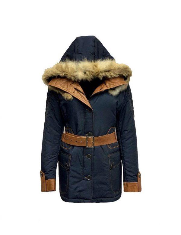 Blauwe dames winterjas -Ranita bestellen
