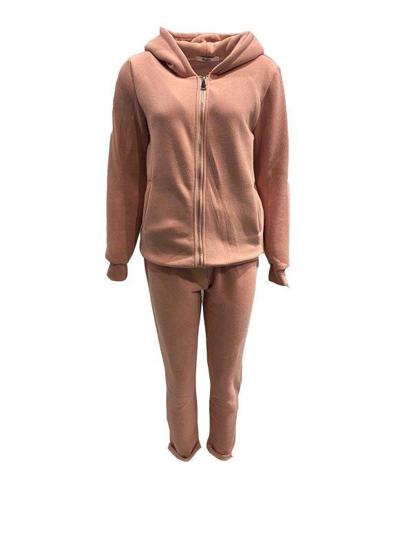 dames joggingspak -sportie pink bestellen