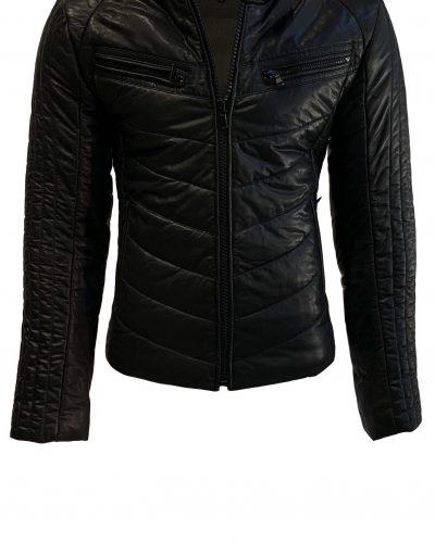 Leren  heren winter jas somber 100% echt leder-torino bestellen