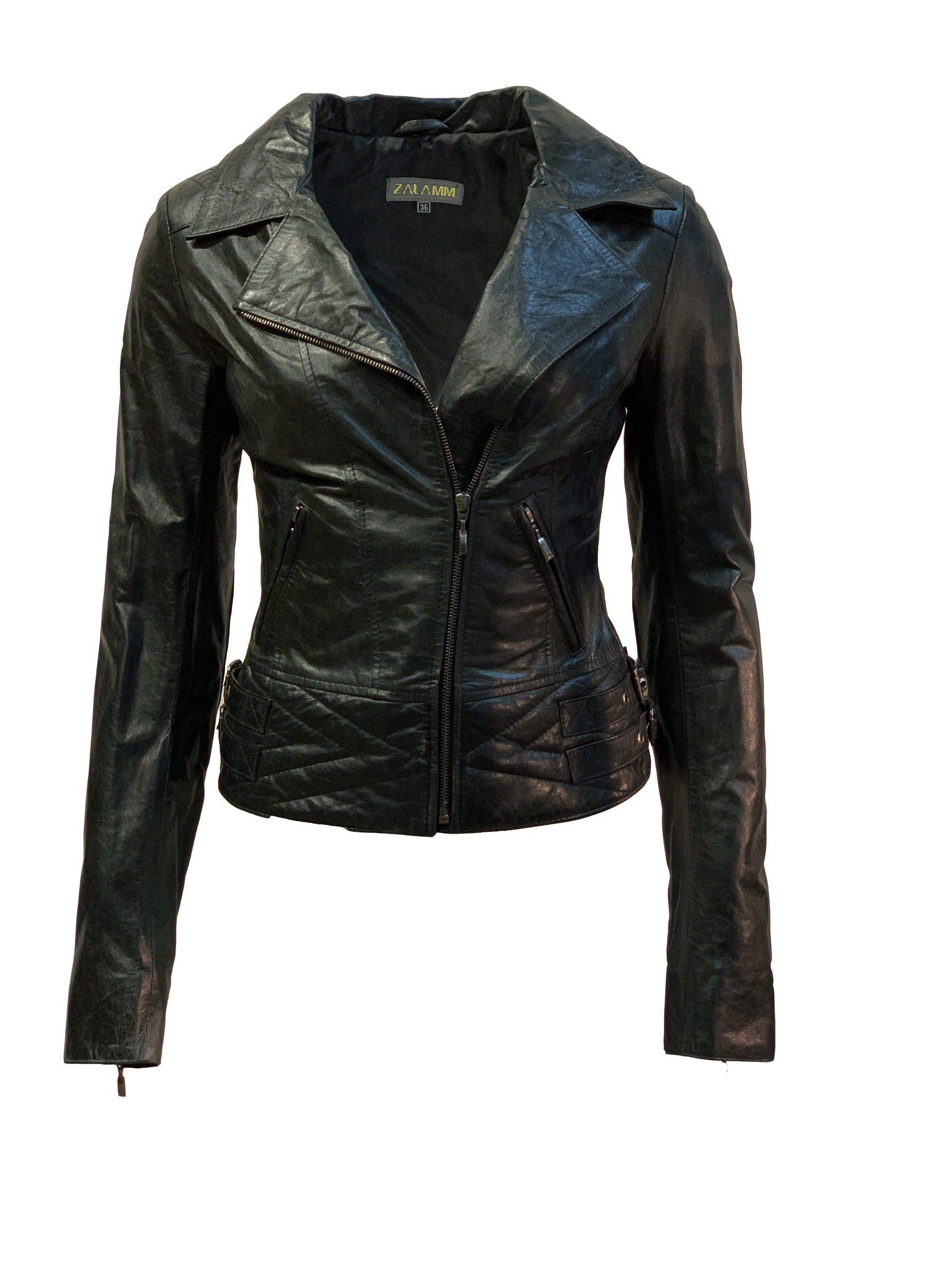 Leren jas dames biker zwart-regatta