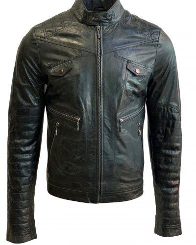 Leren heren jas biker zwart-Missouri bestellen