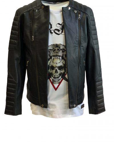 Leren heren jas biker zwart-Atlanta bestellen