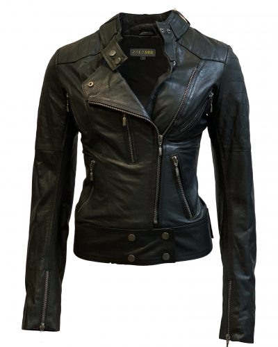 Leren jas dames zwart biker-noratto bestellen