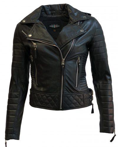 Leren jas dames zwart-Mara bestellen