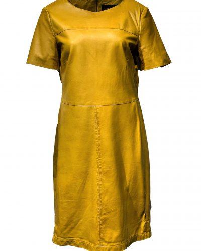 Leren jurk geel-Yorkana bestellen