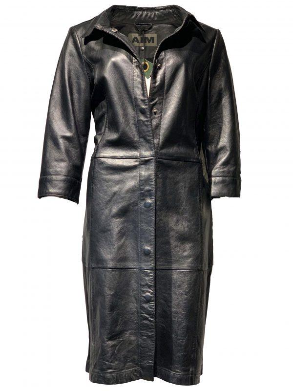 Leren jurk zwart – Viana bestellen