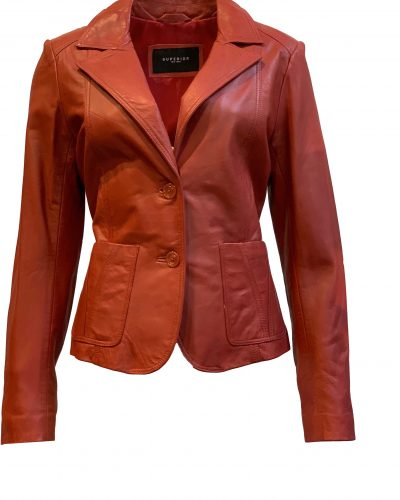 Leren jas dames blazer rood- colberta bestellen